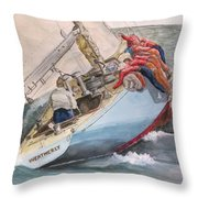 Going To Weather Throw Pillow