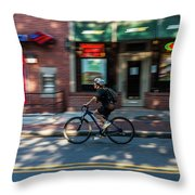 Going To Work Throw Pillow