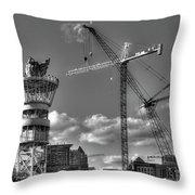 Going Up Midtown Atlanta Construction Art Throw Pillow