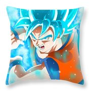 Goku In Dragon Ball Super  Throw Pillow