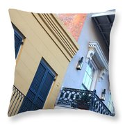 Gold And Gray In New Orleans Throw Pillow