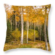 Gold And Green Throw Pillow