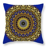 Gold And Sapphires  Throw Pillow