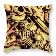 Gold Aquarium Throw Pillow