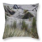 Gold Beach Oregon Beach Grass 15 Throw Pillow