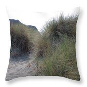 Gold Beach Oregon Beach Grass 5 Throw Pillow