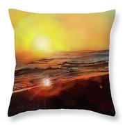 Gold Beach Oregon Sunset Throw Pillow