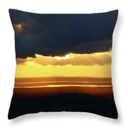 Gold Behind The Clouds Throw Pillow