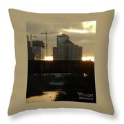 Gold Between The Clouds Detail #1 Throw Pillow