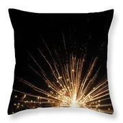 Gold Bloom Throw Pillow
