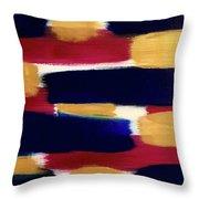 Gold Blue Throw Pillow