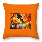 Gold Boulevard Throw Pillow