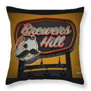 Gold Brewers Hill Throw Pillow