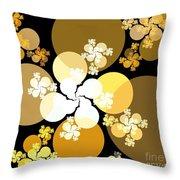 Gold Brown Spheres Throw Pillow