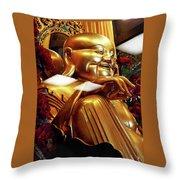 Gold Buddha 5 Throw Pillow