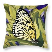 Gold Butterfly In Branson Throw Pillow