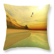 Gold Coast Throw Pillow by Corey Ford