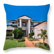 Gold Coast Home Throw Pillow