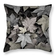 Gold Copper And Silver Leaves 1 Throw Pillow by Roger Snyder