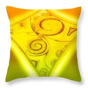 Gold Diamond Throw Pillow