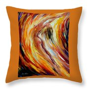 Gold Falls Throw Pillow