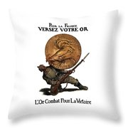 Gold Fights For Victory Throw Pillow