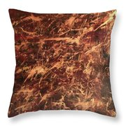 Gold Finger Throw Pillow