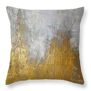 Gold In The Mountain Throw Pillow by KR Moehr