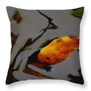 Gold In The Pond Throw Pillow