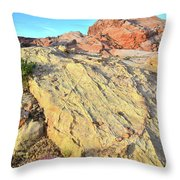 Gold Lava Flow In Valley Of Fire Throw Pillow