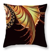 Gold Leaf Abstract Throw Pillow