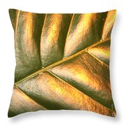Gold Leaf Canvas Throw Pillow