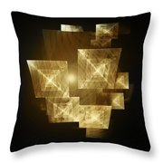 Gold Light And Panels Throw Pillow