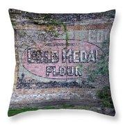 Gold Medal Flour Throw Pillow