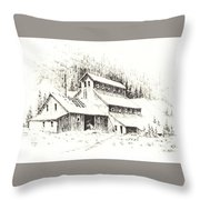 Gold Mine Cable Ghost Town Montana Throw Pillow