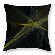 Gold Mine Computer Graphic Line Pattern Throw Pillow