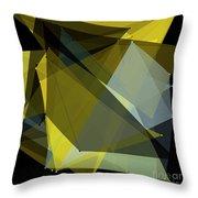 Gold Mine Polygon Pattern Throw Pillow