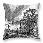 Gold Mining, 1860 Throw Pillow