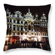 Gold Of The Night Throw Pillow