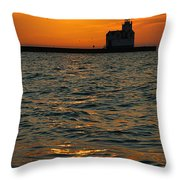 Gold On The Water Throw Pillow by Bill Pevlor