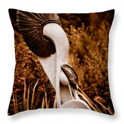 Gold Panner Throw Pillow