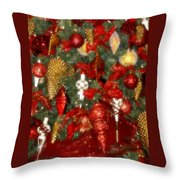 Gold Pinecone Tree Detail Fashions For Evergreens Hotel Roanoke 2009 Throw Pillow