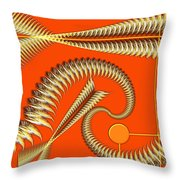 Gold Pipes Throw Pillow