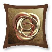 Gold Pretzel Throw Pillow