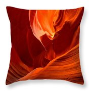 Gold Red And Orange Abstract Throw Pillow