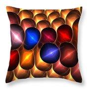 Gold Red Bells Throw Pillow