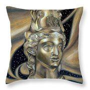 Gold Rhyton From Bulgaria Throw Pillow