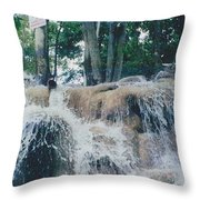 Gold Rock Throw Pillow
