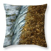 Gold Rush Abstract Throw Pillow