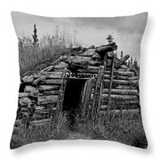 Gold Rush Cabin - Yukon Throw Pillow